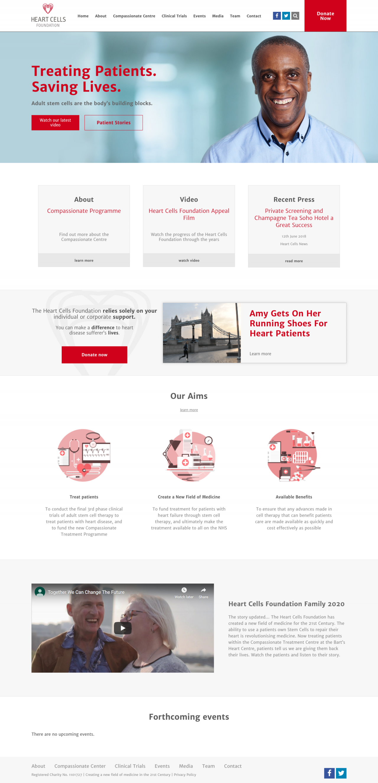 HeartCells Foundation Website | Tom Hoadley | Freelance Wordpress Developer