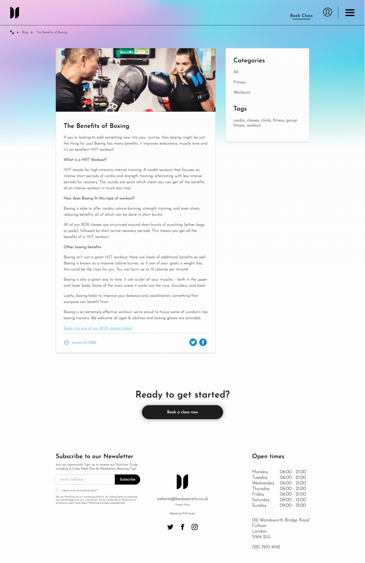 Body Society Website | Tom Hoadley | Freelance Wordpress Developer