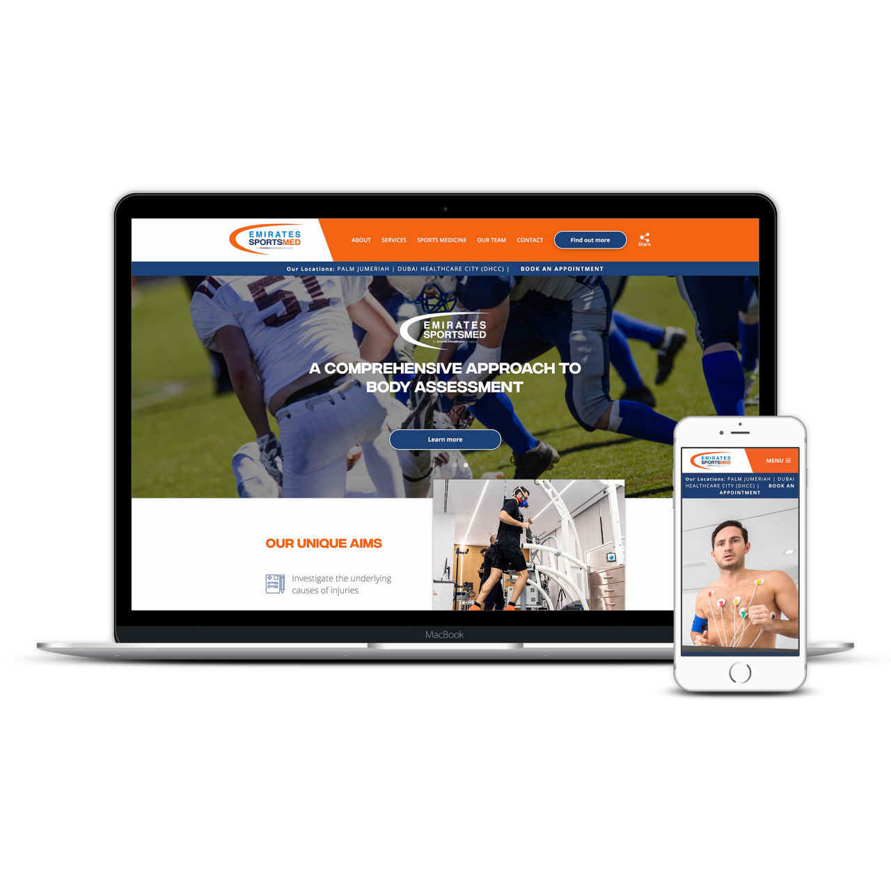 Emirates Sports Medicine | Tom Hoadley | Freelance Wordpress Developer