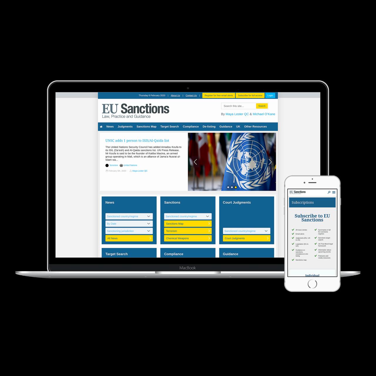 EU Sanctions Website | Tom Hoadley | Freelance Wordpress Developer