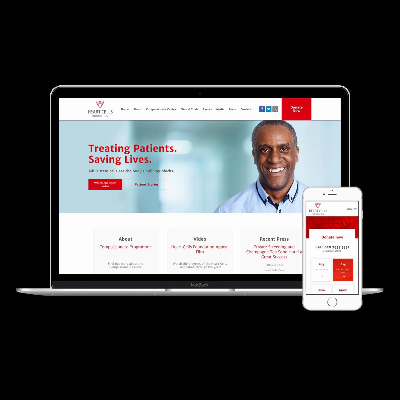 Heart Cells Website | Tom Hoadley | Freelance Wordpress Developer