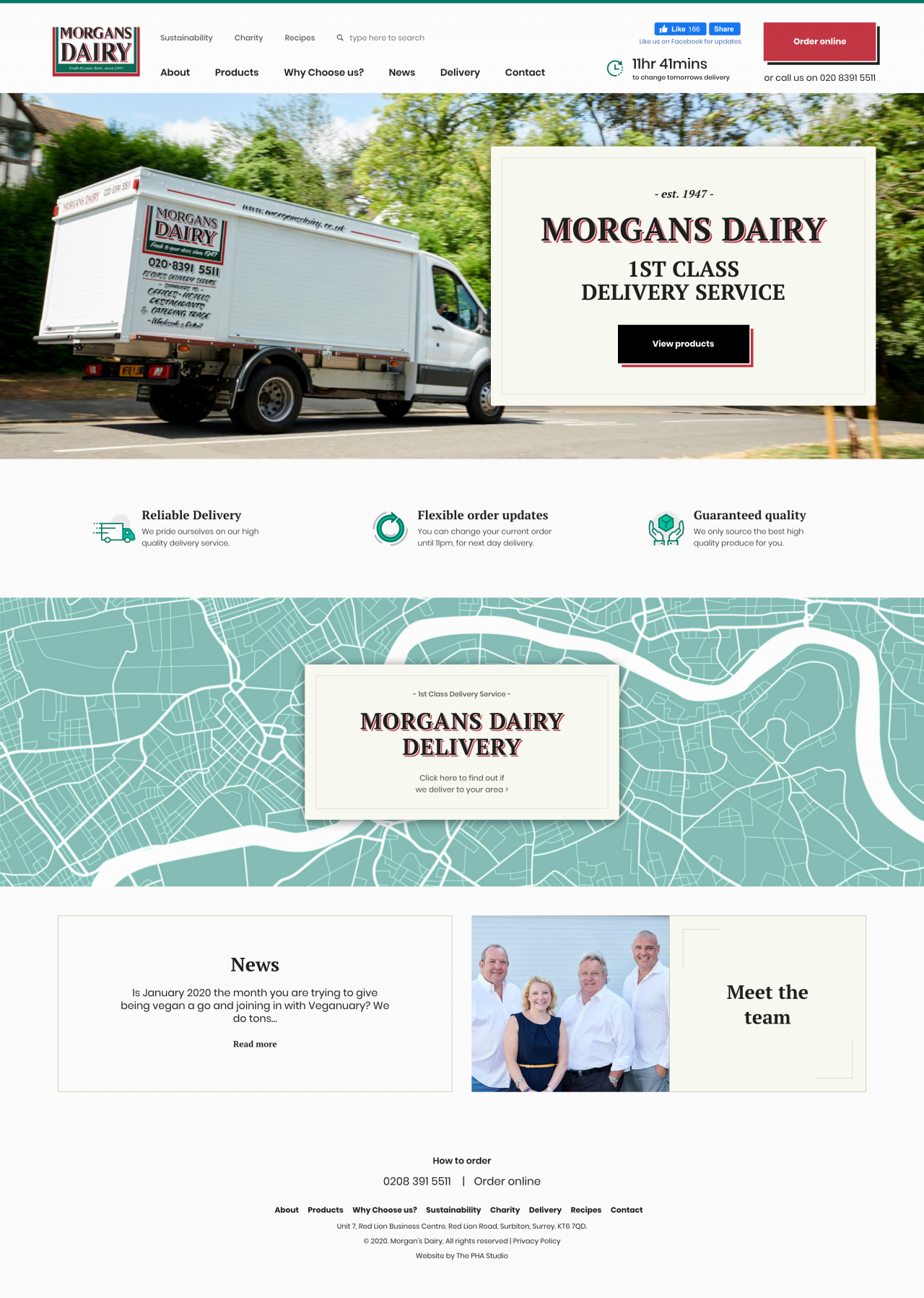Morgans Dairy Website | Tom Hoadley | Freelance Wordpress Developer