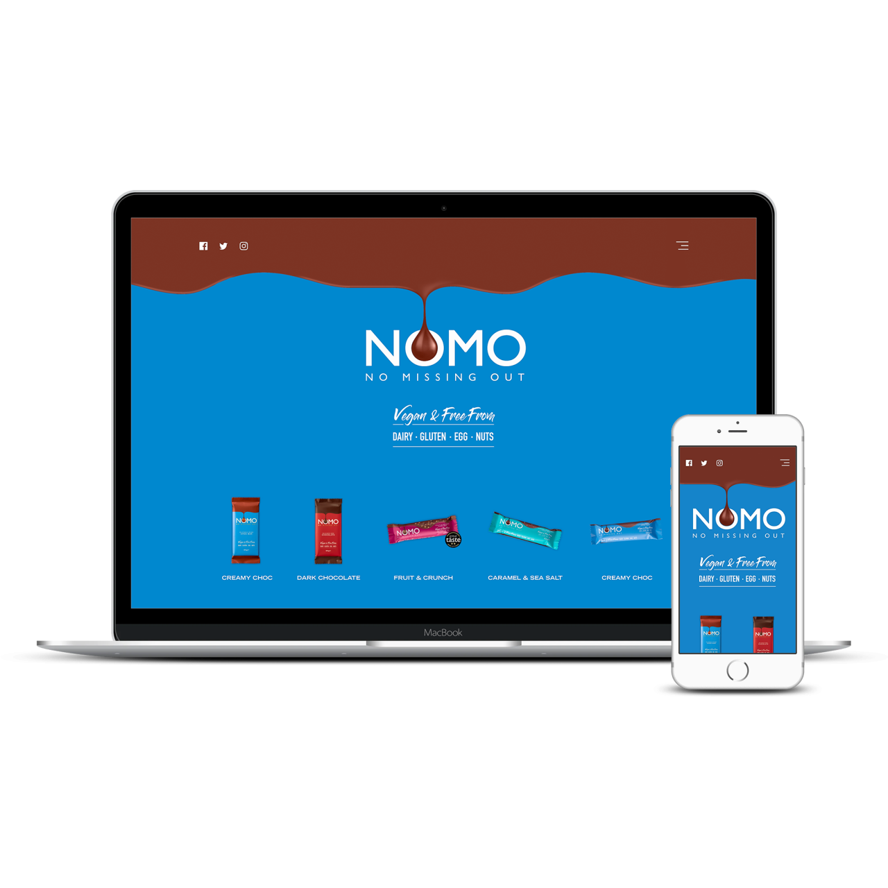 Nomo Choc Website | Tom Hoadley | Freelance Wordpress Developer