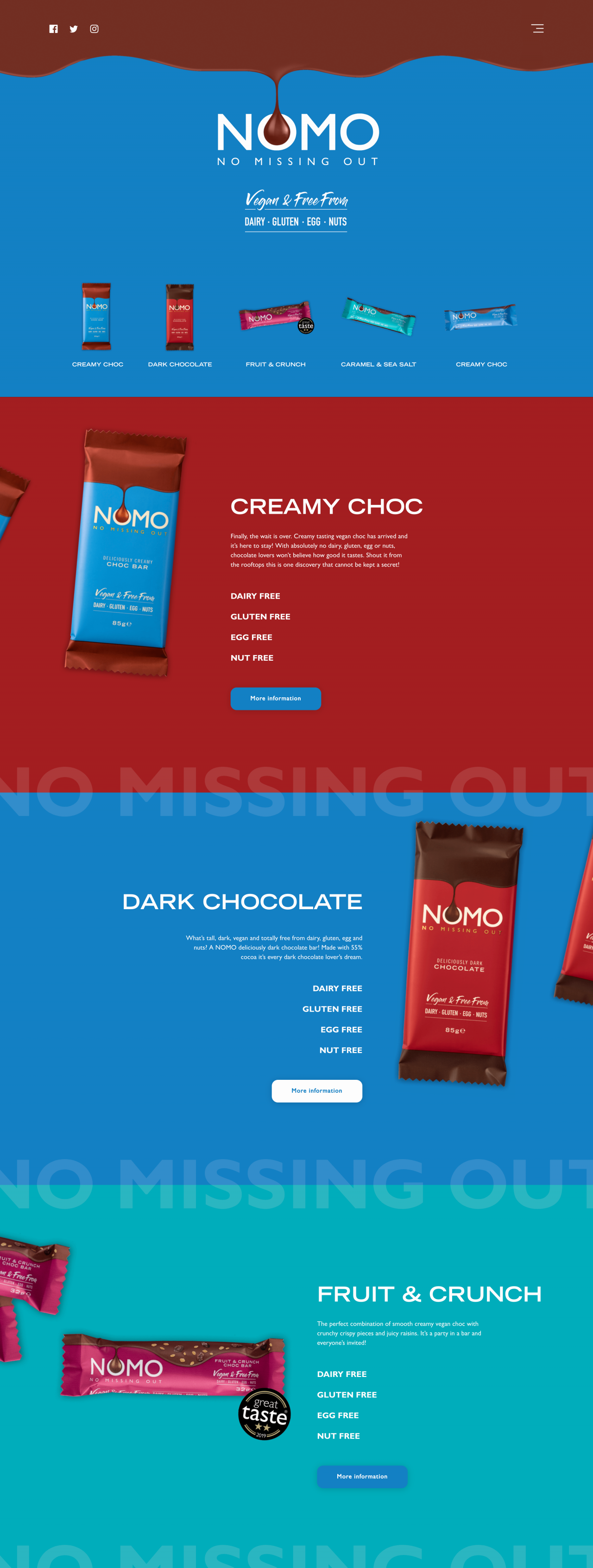 Nomo Chocolate Website | Tom Hoadley | Freelance Wordpress Developer
