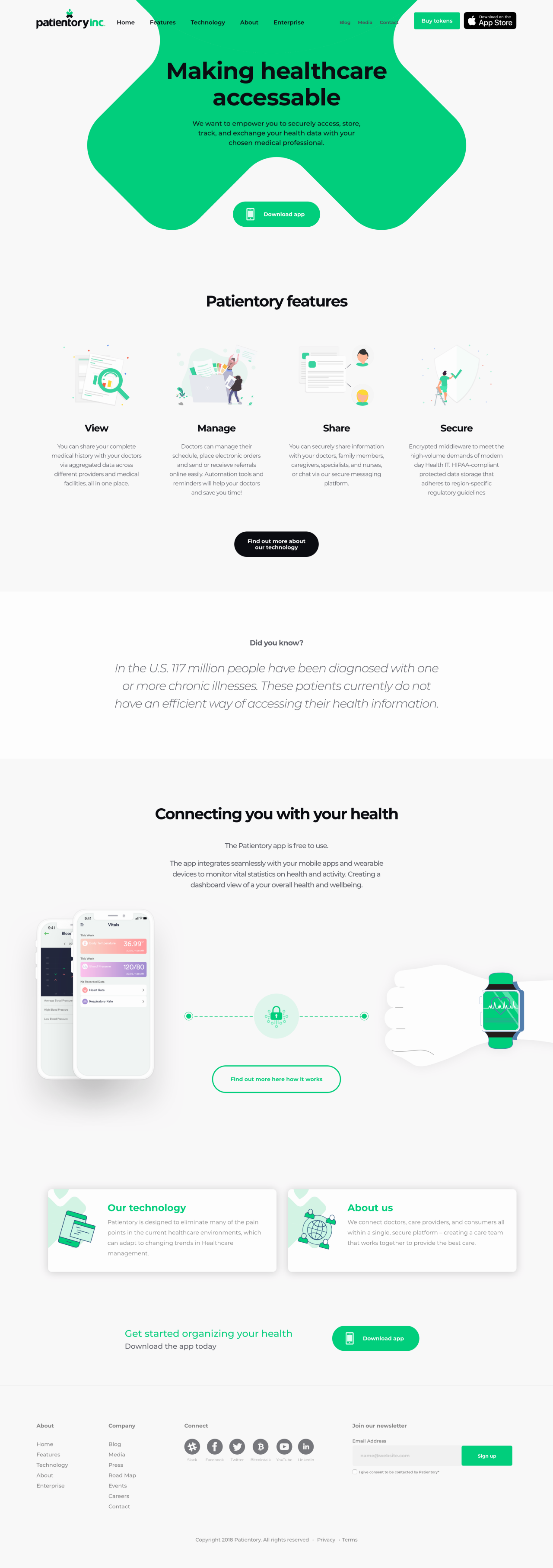 Patientory Website | Tom Hoadley | Freelance Wordpress Developer