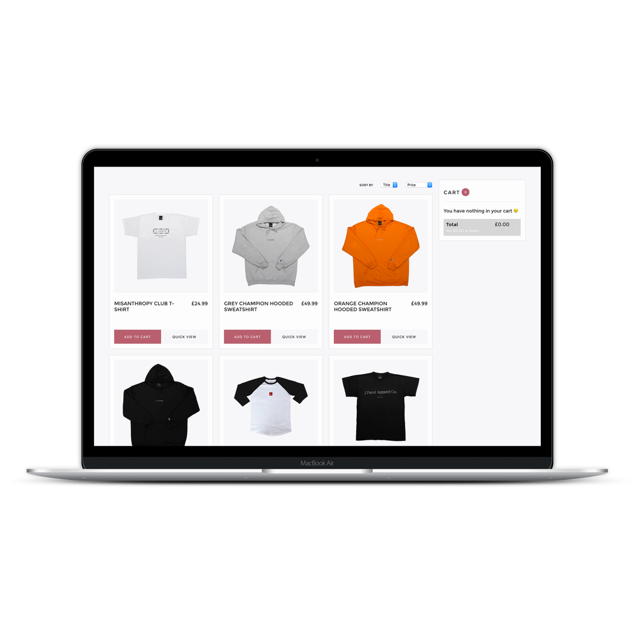 React Shopping Cart Website | Freelance Wordpress Developer
