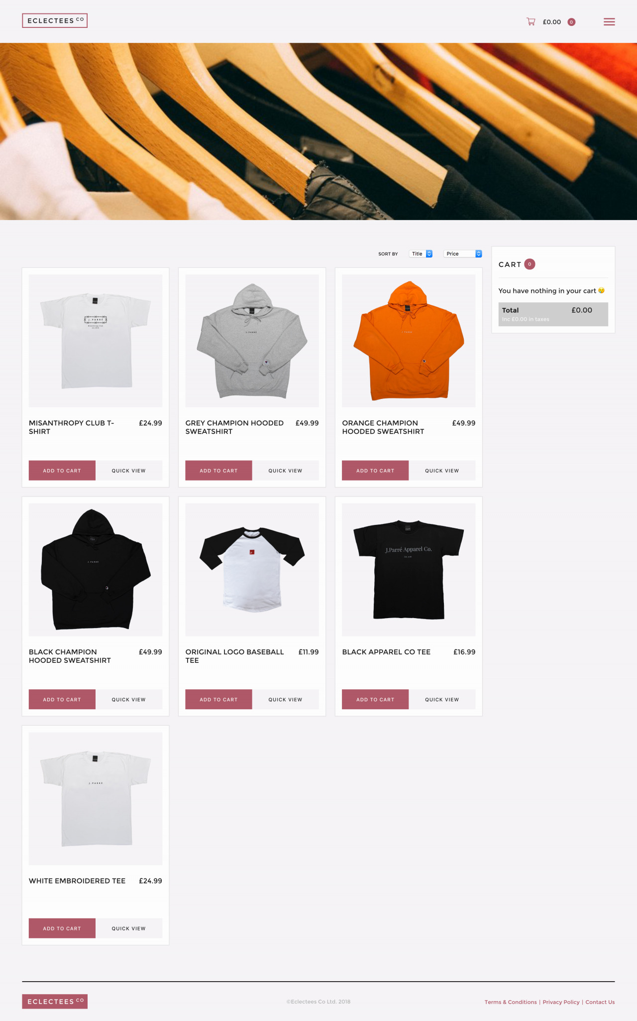 React Shopping Cart | Tom Hoadley | Freelance Wordpress Developer