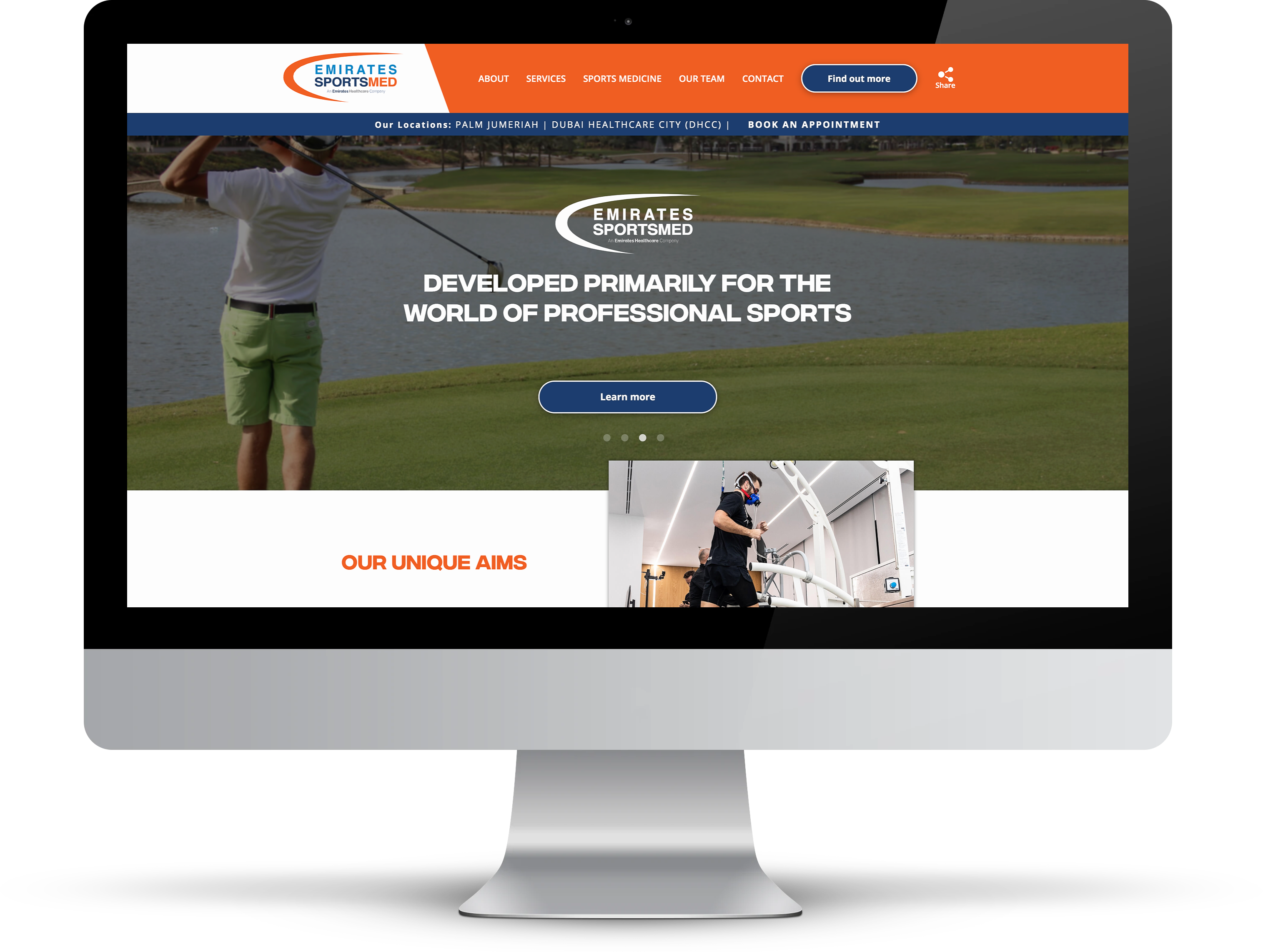 Emirates Sports Medicine Website | Tom Hoadley | Freelance Wordpress Developer