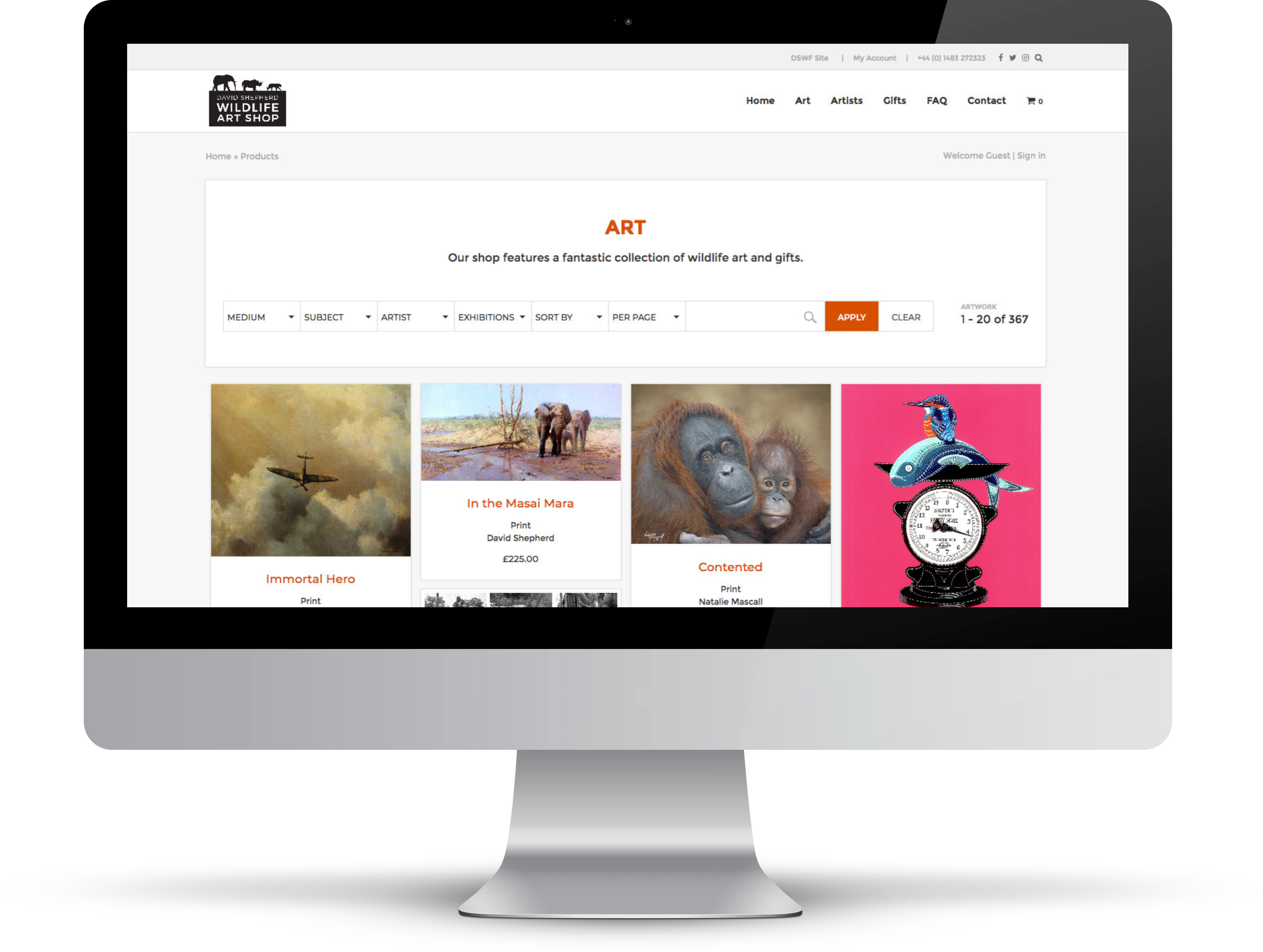 David Shepherd Shop Website | Tom Hoadley | Freelance Wordpress Developer