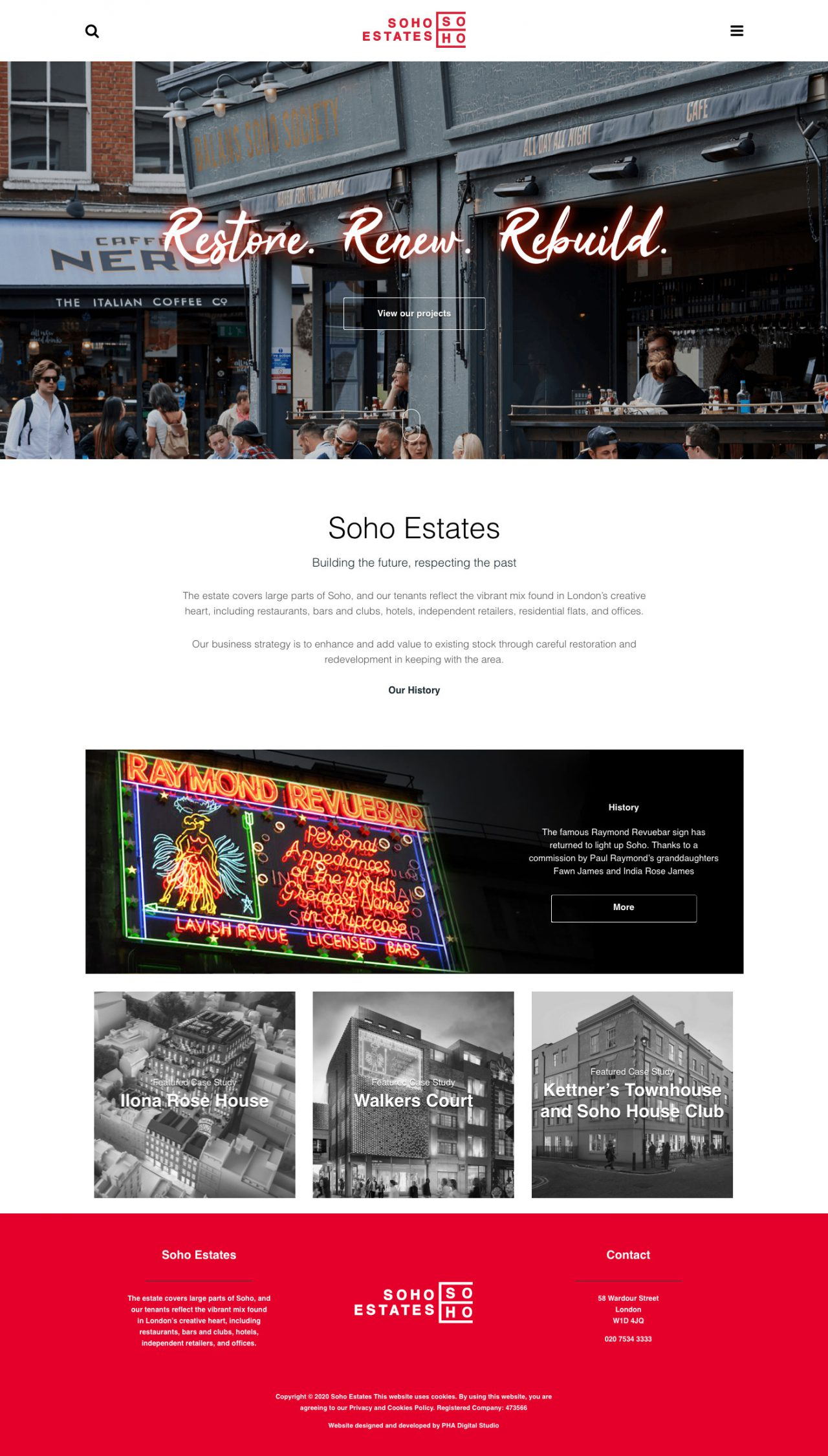 Soho Estates Website | Tom Hoadley | Freelance Wordpress Developer