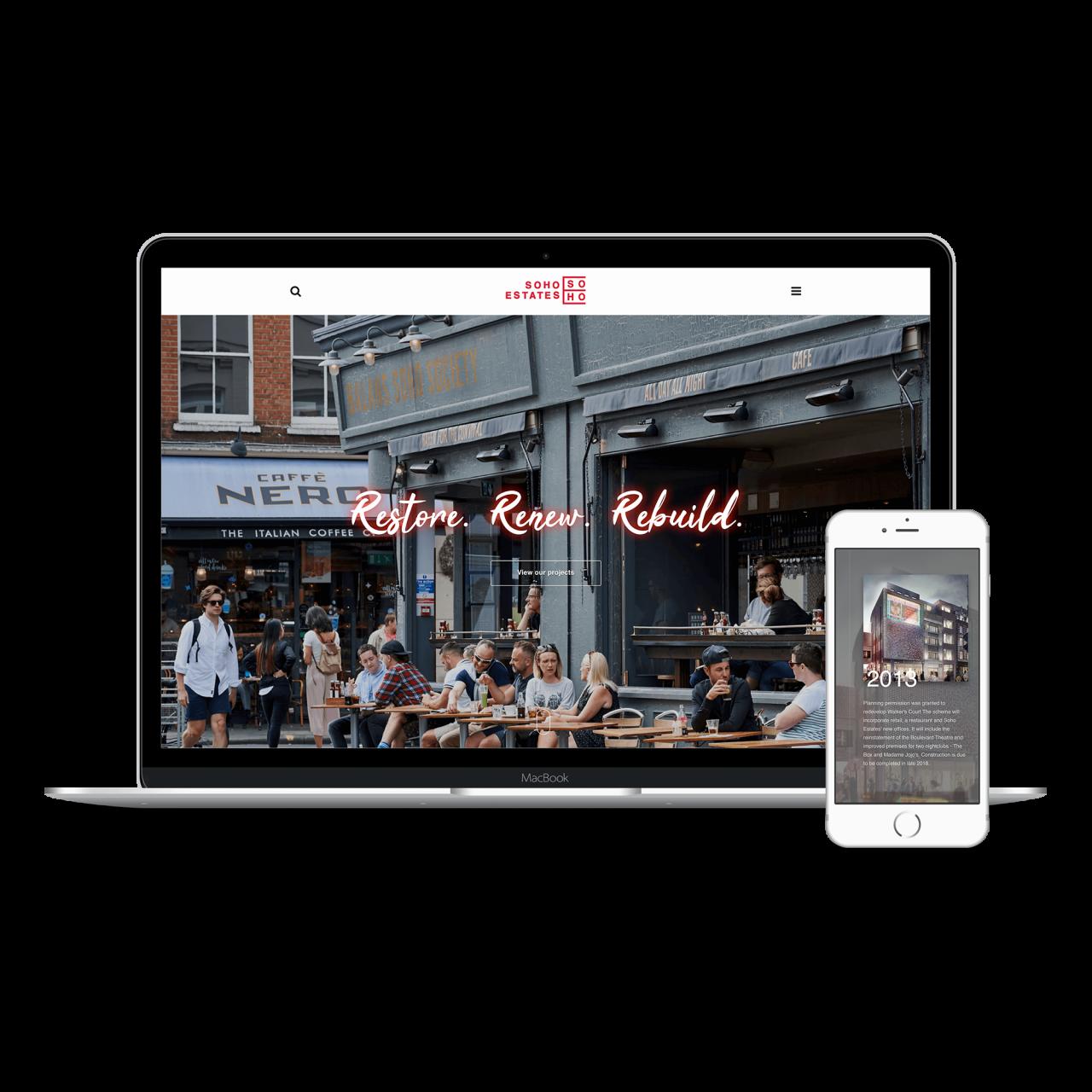 Soho Estates Website | Tom Hoadley | Freelance Wordpress Developer