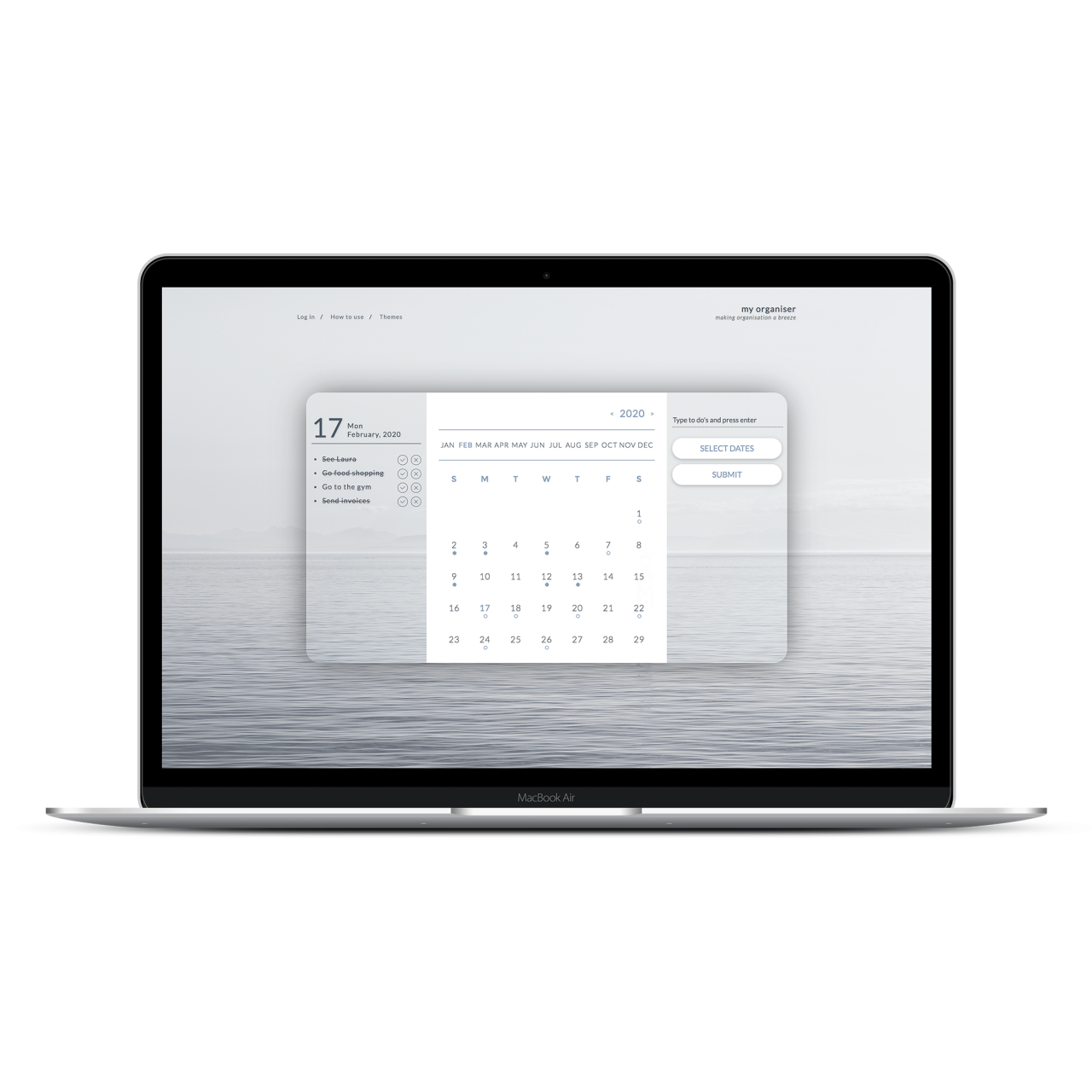 To do list Calendar Software | Tom Hoadley | Freelance Wordpress Developer